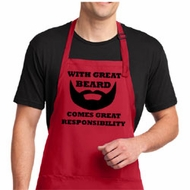 Mens Funny Apron Great Beard Full Length Apron with Pockets