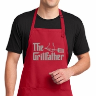 Mens Funny Apron The Grill Father Full Length Apron with Pockets