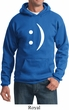 Mens Funny Hoodie Smiley Chat Face Hoody