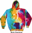 Mens Funny Hoodie Smiley Chat Face Tie Dye Hoody