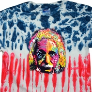 Mens Funny Shirt Albert Einstein Patriotic Tie Dye Tee T-shirt