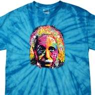 Mens Funny Shirt Albert Einstein Spider Tie Dye Tee T-shirt