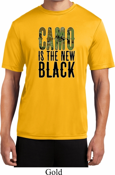 Mens Funny Shirt Camo Is The New Black Moisture Wicking