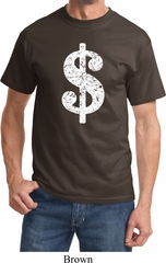 Funny Shirt Distressed Dollar Sign Tee T-Shirt