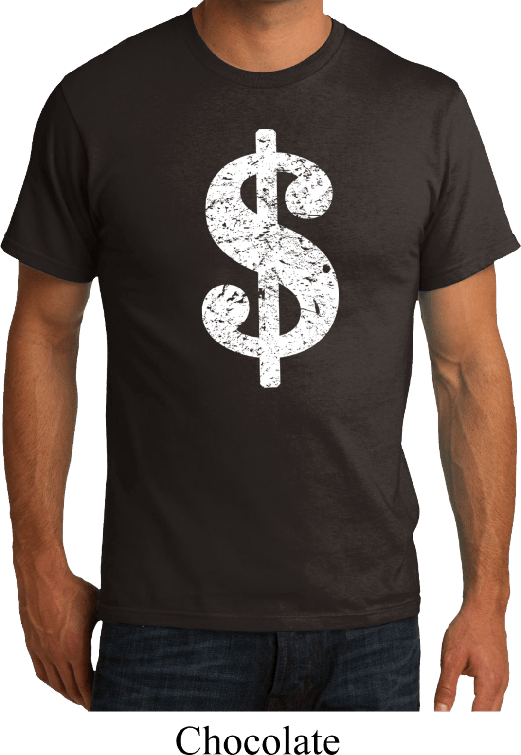 Mens funny shirt distressed dollar sign organic tee t for How to make a distressed shirt