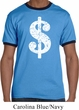Mens Funny Shirt Distressed Dollar Sign Ringer Tee T-Shirt