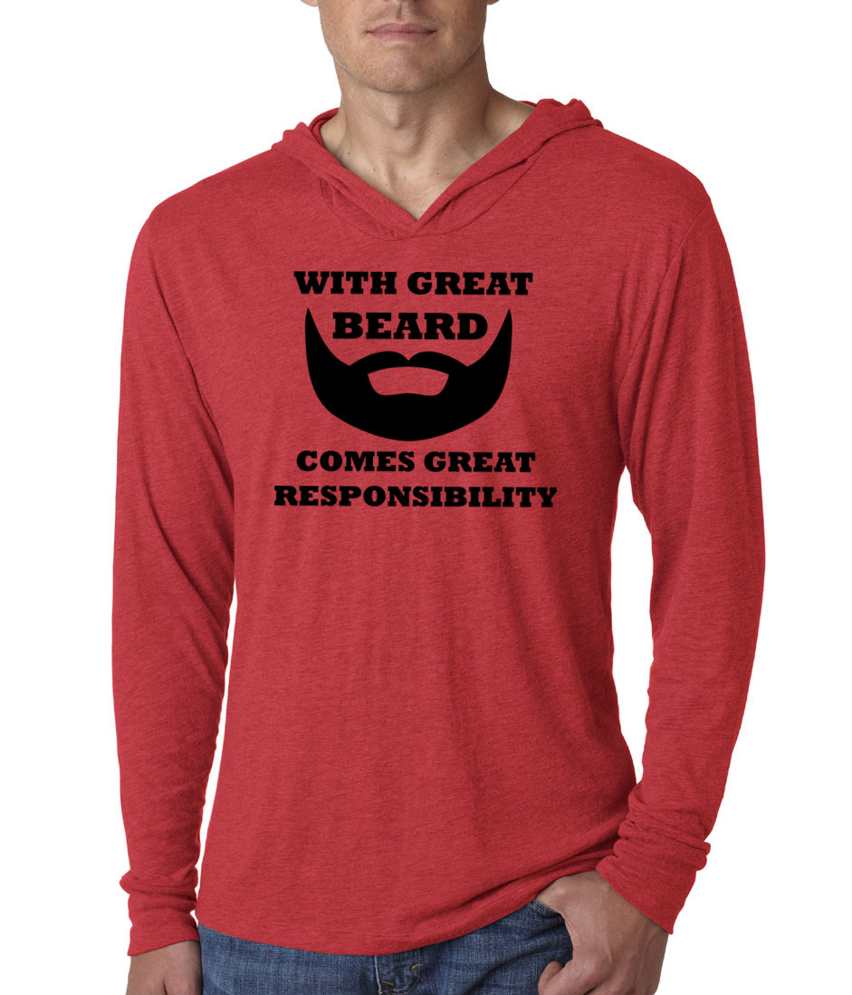 Mens funny shirt great beard lightweight hoodie tee t for Great shirts for guys