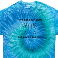 Mens Funny Shirt I've Got Your Back Tie Dye Tee T-shirt