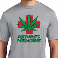 Mens Funny Shirt Natures Medicine Moisture Wicking Tee T-Shirt