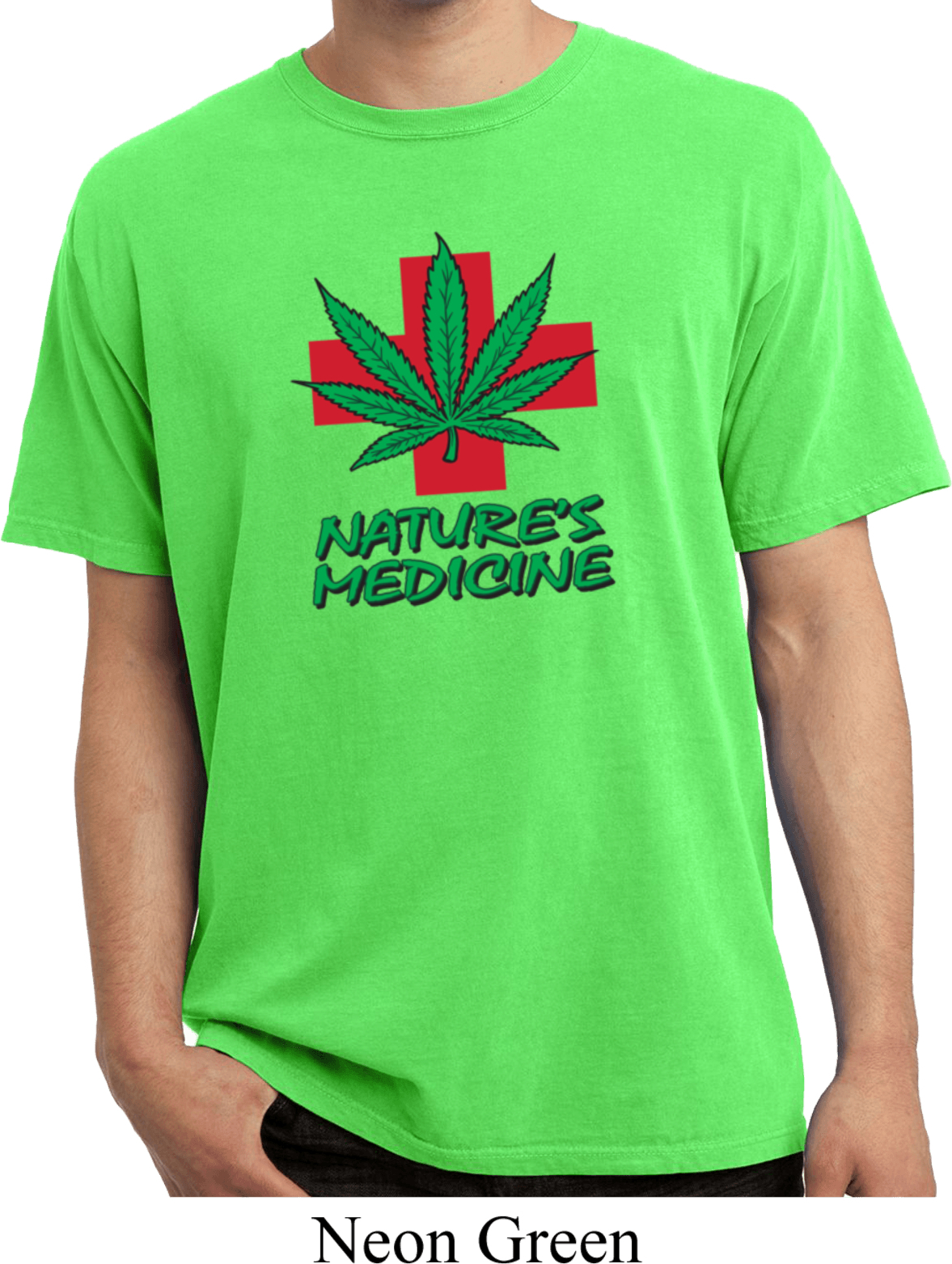 Mens Funny Shirt Natures Medicine Pigment Dyed Tee T Shirt