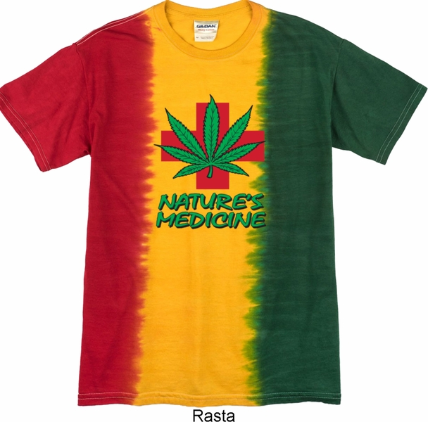 Mens funny shirt natures medicine premium tie dye tee t for Tie dye mens t shirts