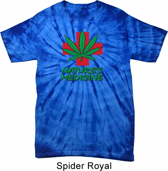 Mens funny shirt natures medicine spider tie dye tee t for Tie dye mens t shirts