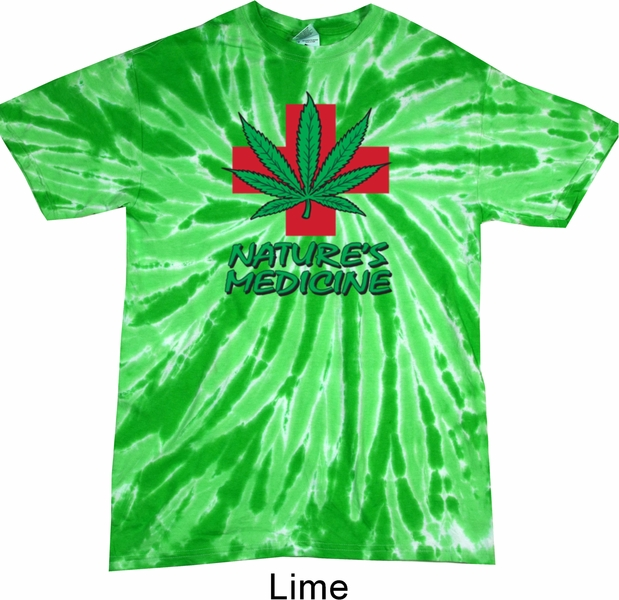 Mens funny shirt natures medicine twist tie dye tee t for Tie dye mens t shirts