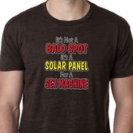 Mens Funny Shirt Not a Bald Spot Burnout Tee T-Shirt