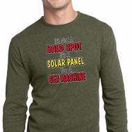 Mens Funny Shirt Not a Bald Spot Long Sleeve Thermal Tee T-Shirt