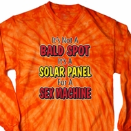 Mens Funny Shirt Not a Bald Spot Long Sleeve Tie Dye Tee T-shirt