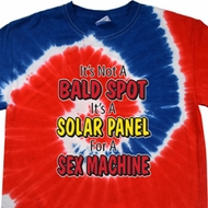 Mens Funny Shirt Not a Bald Spot Patriotic Tie Dye Tee T-shirt
