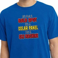 Mens Funny Shirt Not a Bald Spot Pigment Dyed Tee T-Shirt
