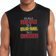 Mens Funny Shirt Not a Bald Spot Sleeveless Moisture Wicking Tee