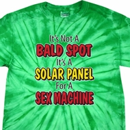 Mens Funny Shirt Not a Bald Spot Spider Tie Dye Tee T-shirt