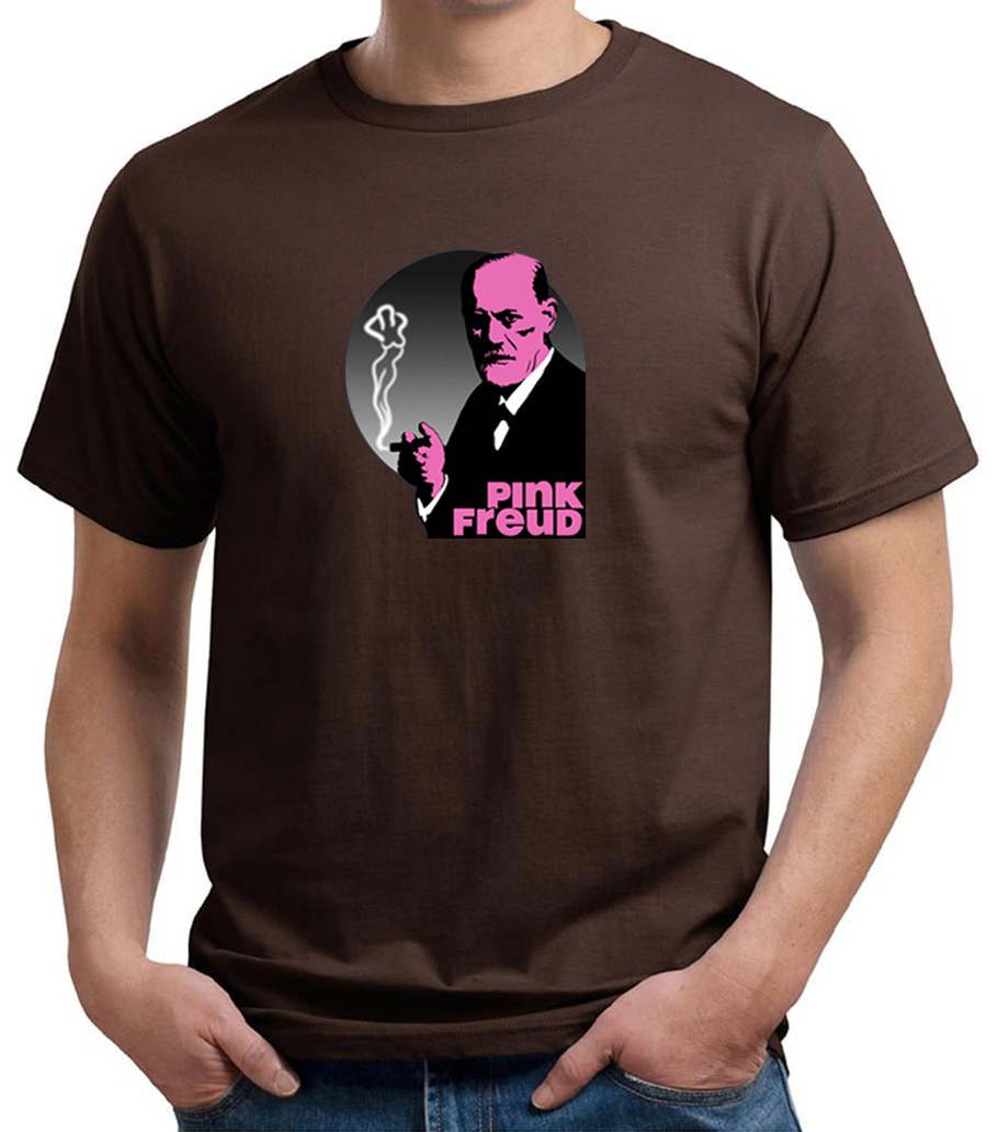 Mens funny shirt pink freud organic tee t shirt pink for Great shirts for guys