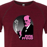 Mens Funny Shirt Pink Freud Tri Blend Tee T-Shirt