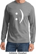 Mens Funny Shirt Smiley Chat Face Long Sleeve Tee T-Shirt