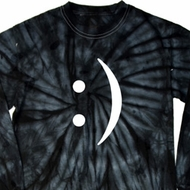 Mens Funny Shirt Smiley Chat Face Long Sleeve Tie Dye Tee T-shirt
