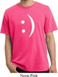 Mens Funny Shirt Smiley Chat Face Pigment Dyed Tee T-Shirt