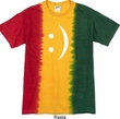 Mens Funny Shirt Smiley Chat Face Premium Tie Dye Tee T-shirt