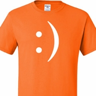 Mens Funny Shirt Smiley Chat Face Tall Tee T-Shirt