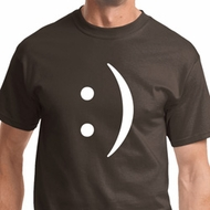Mens Funny Shirt Smiley Chat Face Tee T-Shirt