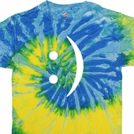 Mens Funny Shirt Smiley Chat Face Tie Dye Tee T-shirt