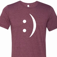 Mens Funny Shirt Smiley Chat Face Tri Blend Crewneck Tee T-Shirt