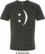 Mens Funny Shirt Smiley Chat Face Tri Blend Tee T-Shirt