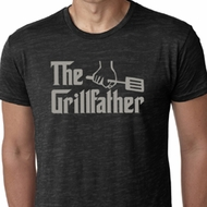 Mens Funny Shirt The Grill Father Burnout Tee T-Shirt