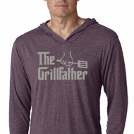 Mens Funny Shirt The Grill Father Lightweight Hoodie Tee