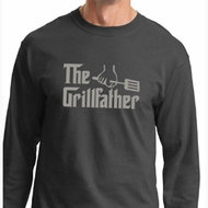 Mens Funny Shirt The Grill Father Long Sleeve Tee T-Shirt