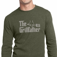 Mens Funny Shirt The Grill Father Long Sleeve Thermal Tee T-Shirt