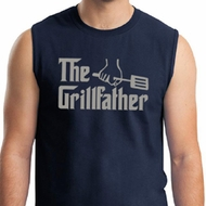 Mens Funny Shirt The Grill Father Muscle Tee T-Shirt