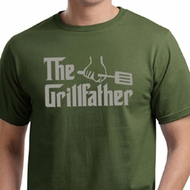 Mens Funny Shirt The Grill Father Organic Tee T-Shirt