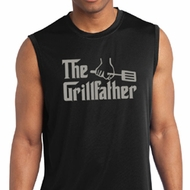Mens Funny Shirt The Grill Father Sleeveless Moisture Wicking Tee