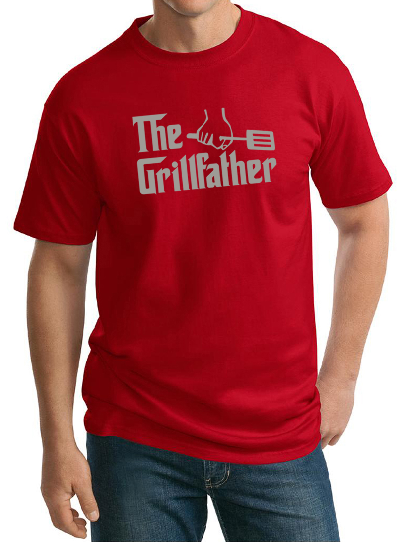 Mens funny shirt the grill father tall tee t shirt the for Mens tall t shirts