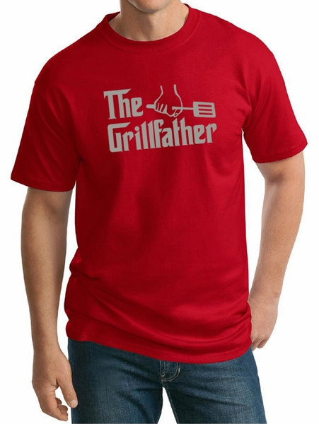 Mens Funny Shirt The Grill Father Tall Tee T Shirt The