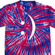 Mens Funny Smiley Chat Face Union Jack Patriotic Tie Dye Tee T-shirt