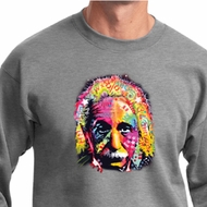 Mens Funny Sweatshirt Albert Einstein Sweat Shirt