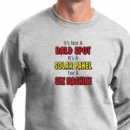 Mens Funny Sweatshirt Not a Bald Spot Sweat Shirt