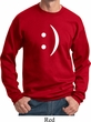 Mens Funny Sweatshirt Smiley Chat Face Sweat Shirt