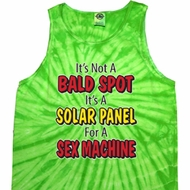 Mens Funny Tanktop Not a Bald Spot Tie Dye Tank Top