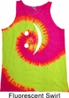 Mens Funny Tanktop Smiley Chat Face Tie Dye Tank Top